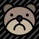 bear, emoji, emoticon, kawaii, sad