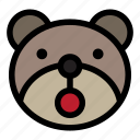 bear, emoji, emoticon, kawaii, open mouth
