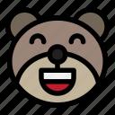 bear, emoji, emoticon, kawaii, laughing