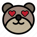 bear, emoji, emoticon, fall in love, kawaii