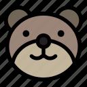 bear, emoji, emoticon, grinning, kawaii