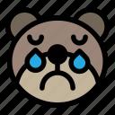 bear, cry, emoji, emoticon, kawaii