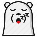 bear, emoji, emoticon, expression, sleep icon