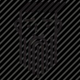 avatar, beard, emoji, face, serious icon