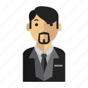 beard, man, office, suit icon