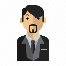 bear, man, office, suit icon