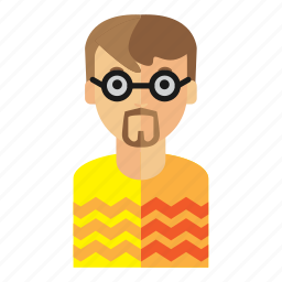 bear, geek, man, nerd icon