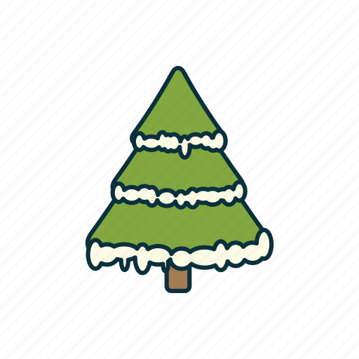 christmas, elements, fir tree, holidays, pack, snow, wbmte252 icon