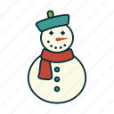 christmas, elements, pack, scarf, snowman, tradition, wbmte252 icon