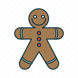 christmas, elements, figur, ginger bread, holidays, pack, wbmte252 icon