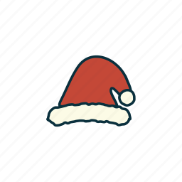 christmas, decoration, elements, pack, santa hat, tradition, wbmte252 icon