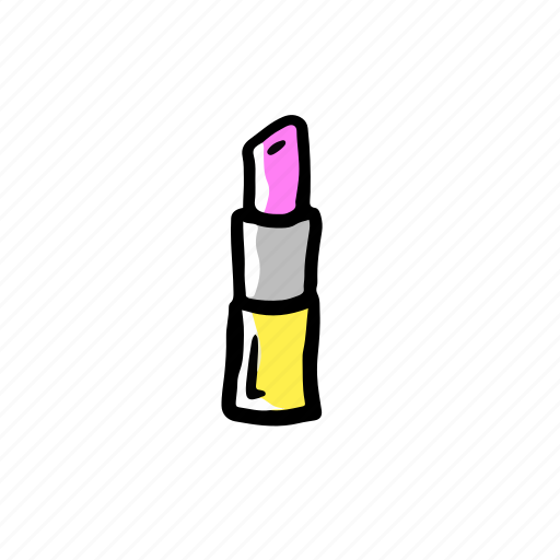 beauty, girl, hand drawn, icon, lipstick icon