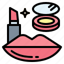 makeup, cosmetics, beauty, lipstick icon