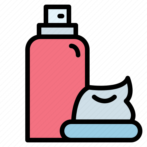beauty, foam, razor, shaving icon