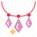 diamond, gem, jewelry, necklace icon