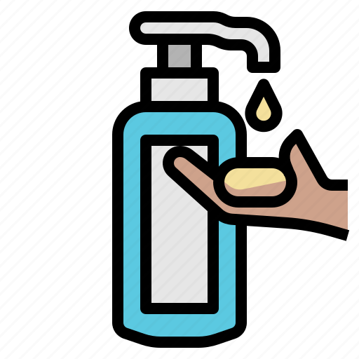 bath, lotion, oil, shampoo icon