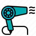 blow, blower, dryer, hair, salon icon