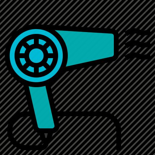 blow, blower, dryer, hair, salon icon