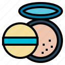 cosmetics, facepowder, powder icon