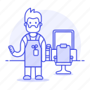 barber, barbershop, beauty, equipment, full, hair, hairdressing, hairstlye, hairstyle, male, salon, supplies icon