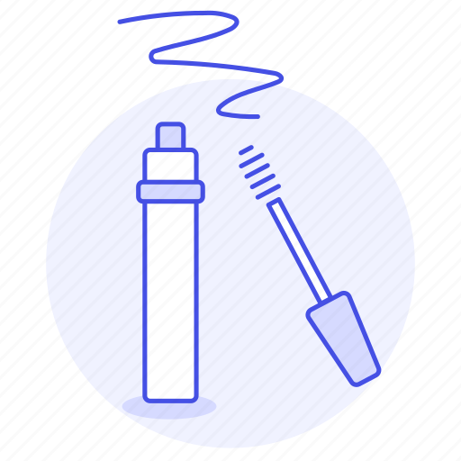 2, applicator, beauty, brush, cosmetic, eyelash, make, makeup, mascara, tube, up, wand icon