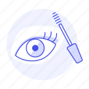 applicator, beauty, brush, cosmetic, eye, eyelash, make, makeup, mascara, up, wand icon