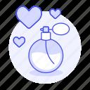 aroma, beauty, de, eau, female, fragrance, heart, love, perfume, scent, toilette icon