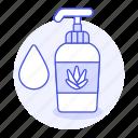1, aloe, beauty, body, bottle, care, conditioner, cosmetic, cream, facial, gel, liquid, lotion, pump, skin, skincare, soap, vera icon