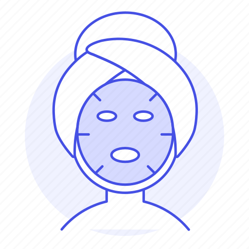 1, beauty, care, cosmetic, face, facial, female, mask, relaxing, sheet, skin, spa, treatment icon
