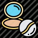 cosmetics, facial, makeup, powder, puff icon