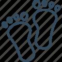 foots, boot print, footmark, footprints, footstep, hoof print, paw print icon
