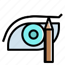 beauty, cosmetics, eye, makeup, pencil, shadow icon