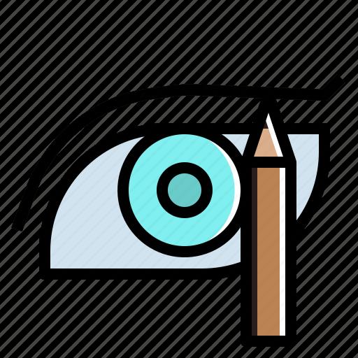 beauty, cosmetics, eye, makeup, pencil, shadow icon