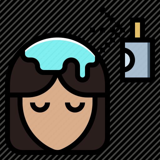 beauty, color, dye, hair, makeup, salon, sample icon