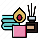 beauty, massage, relaxing, spa, towel icon