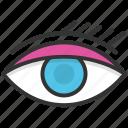 eye, eye beauty, eye makeup, eyebrow, woman eye icon