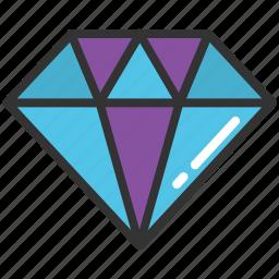 diamond, gem, jewel, luxury, ruby icon