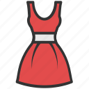 clothing, dress, frock, sundress, woman dress icon