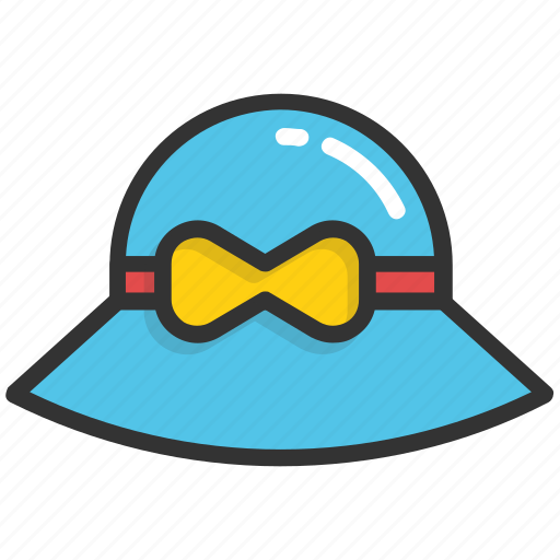 beach hat, floppy hat, hat, headwear, summer hat icon