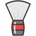 barber brush, barber equipment, shave brush, shaving badger, shaving brush icon