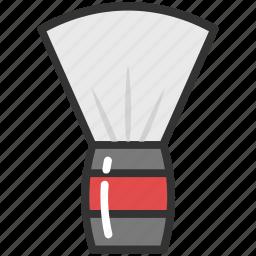barber brush, barber equipment, shave brush, shaving badger, shaving brush icon