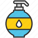 cosmetics, hand wash, lotion, soap, soap dispenser icon