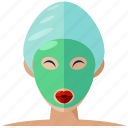 beauty, face, mask, spa, treatment, wellness icon