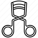 curler, eyelash curler, eyelashes, eyelashes curler icon