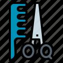 comb, cut, hair, scissor, tool