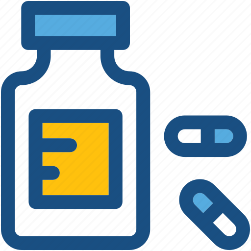 drugs, drugs jar, medicine bottle, medicine jar, pills icon