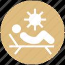 beach, parasol, spa, sun, sun tanning, sunbathe, tanning icon