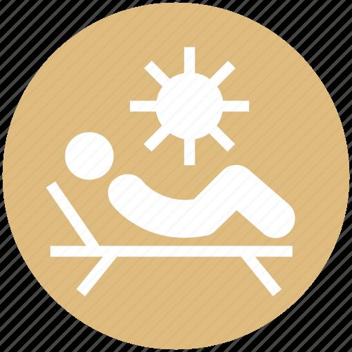 Beach, parasol, spa, sun, sun tanning, sunbathe, tanning icon - Download on Iconfinder