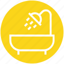 bath, bathing, bathroom, bathtub, restroom, shower, tub icon