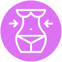 abdomen, beauty, body, female, healthy, slim, waist icon